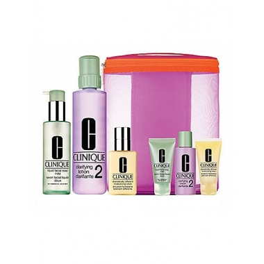 Clinique Great Skin Home & Away - 3 Step System Skin Types 1, 2